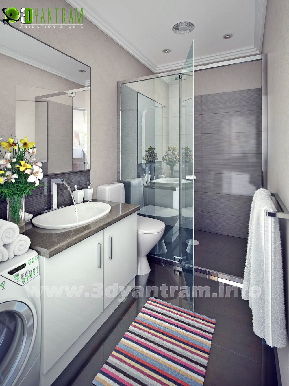 Visualize Your Modern Bathroom Design With Yantram  Yantram Architectural Design Studio