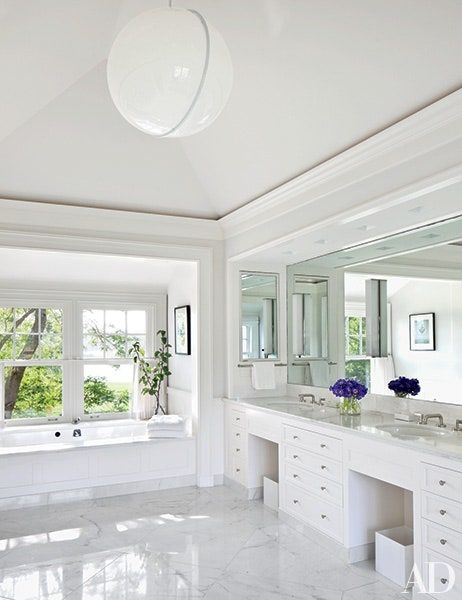White Bathroom Design Ideas Photos  Architectural Digest