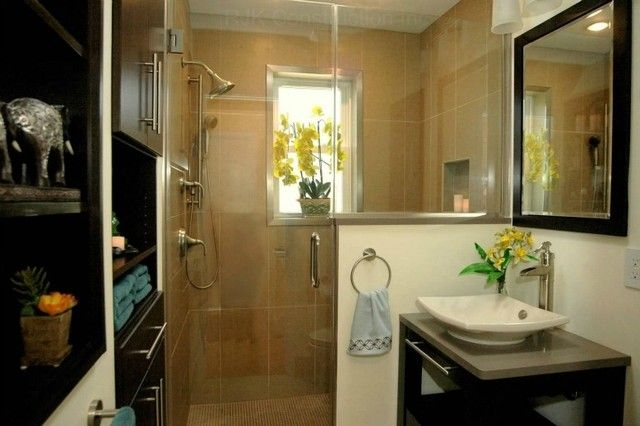 Zen Bathroom With Integrated Cabinetry  Modern  Bathroom  Other Metro Rjk Construction Inc