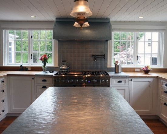 Zinc Countertops Design Pictures Remodel Decor And Ideas  Kitchen Renovation Outdoor