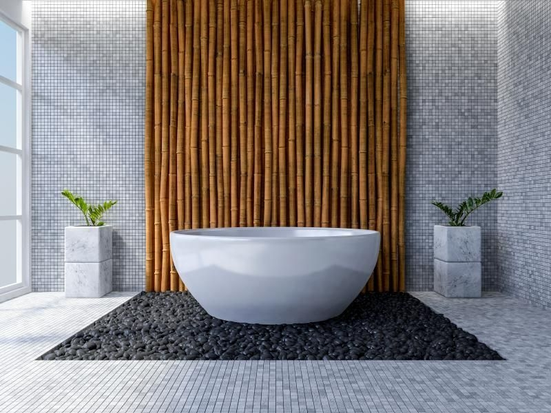 5 Easy Ways To Decorate With Bamboo Poles With Images  Bamboo Bathroom Decor Bamboo Bathroom