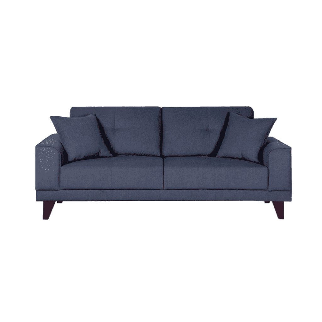 Buy Arco Three Seater Sofa In Navy Blue Colour Online  Buy Furniture Online