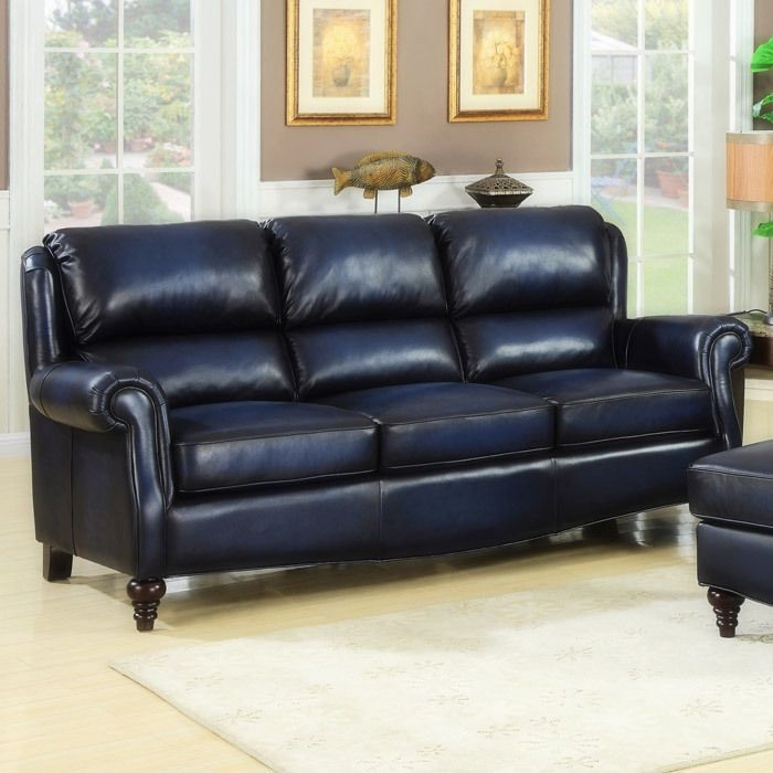 Heritage Devon Leather Sofa  Leather Sofa Living Room Blue Leather Sofa Blue Leather Couch