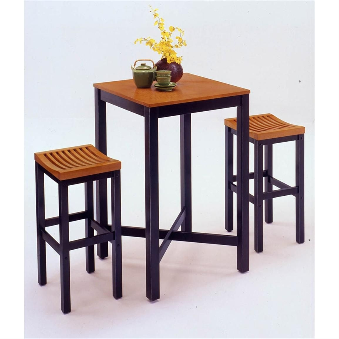 Home Styles™ Bar Table Black With Veneer Oak Top  38891 Kitchen  Dining Stools At Sportsman