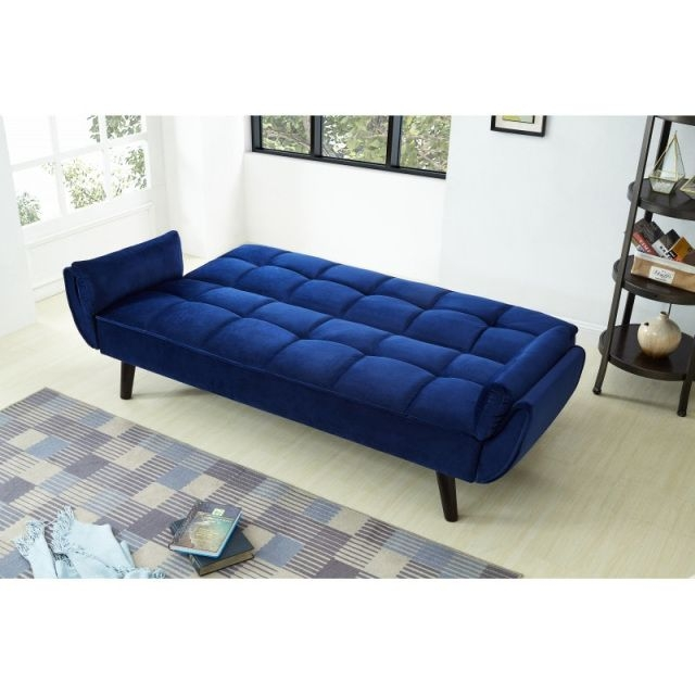 Jason Velvet Navy Blue Sofa Bed